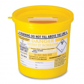 Sharps Disposal Container Bin (2.5 Litre)
