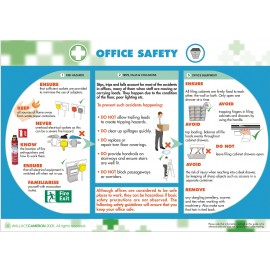 Office Safety Poster 590mm x 420mm