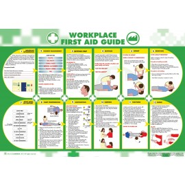 Workplace First Aid Guide Poster 840mm x 590mm